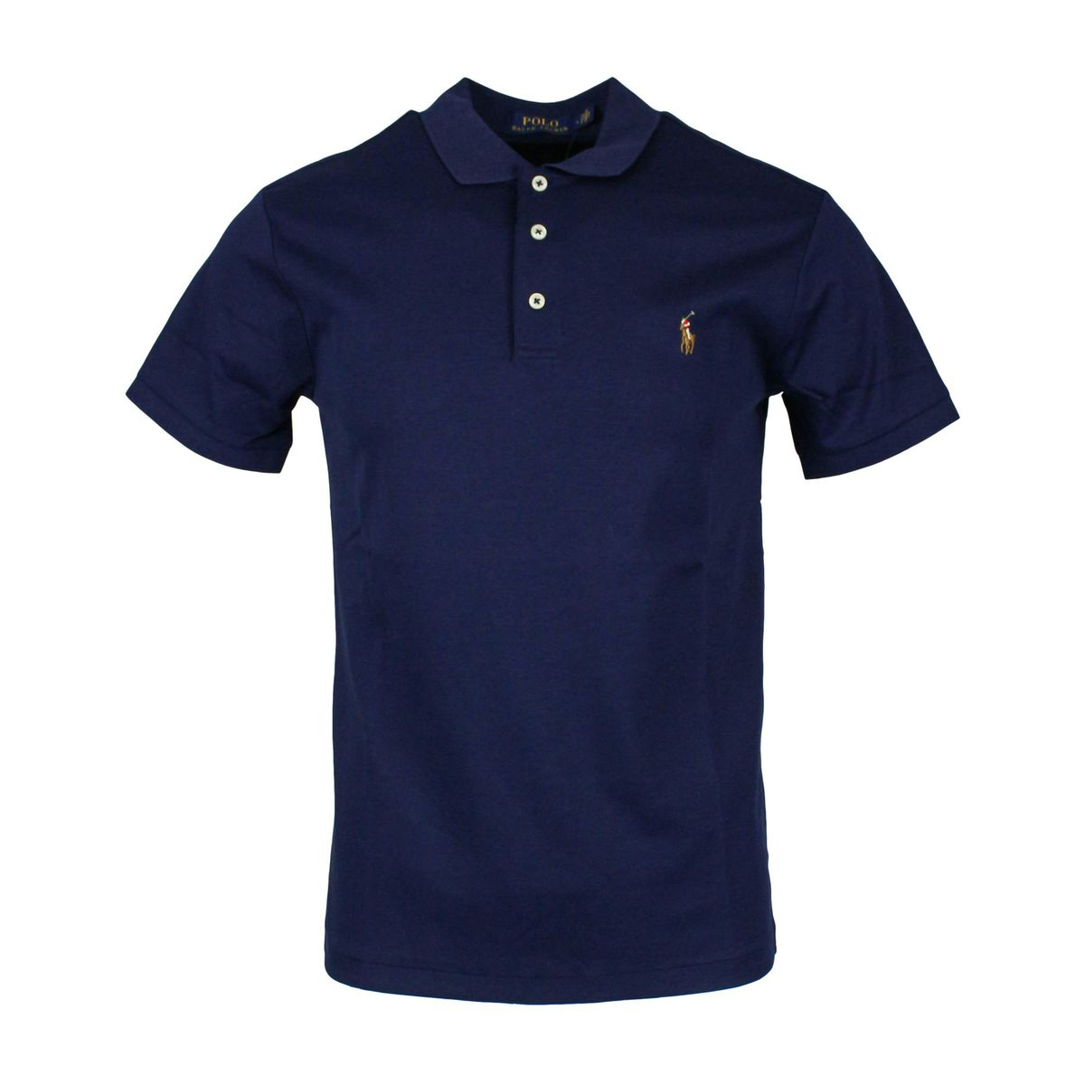 Polo slim fit in cotone pima Navy Polo Ralph Lauren
