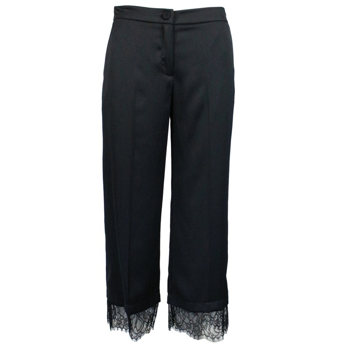 Trousers with lace detail Black Twin-Set