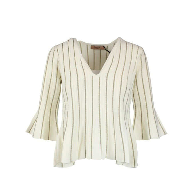 Striped lurex sweater White Twin-Set