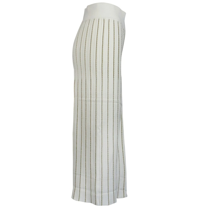 Trousers with lurex stripes White Twin-Set