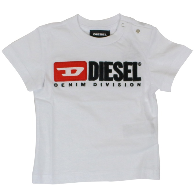 T-shirt with contrasting logo White DIESEL
