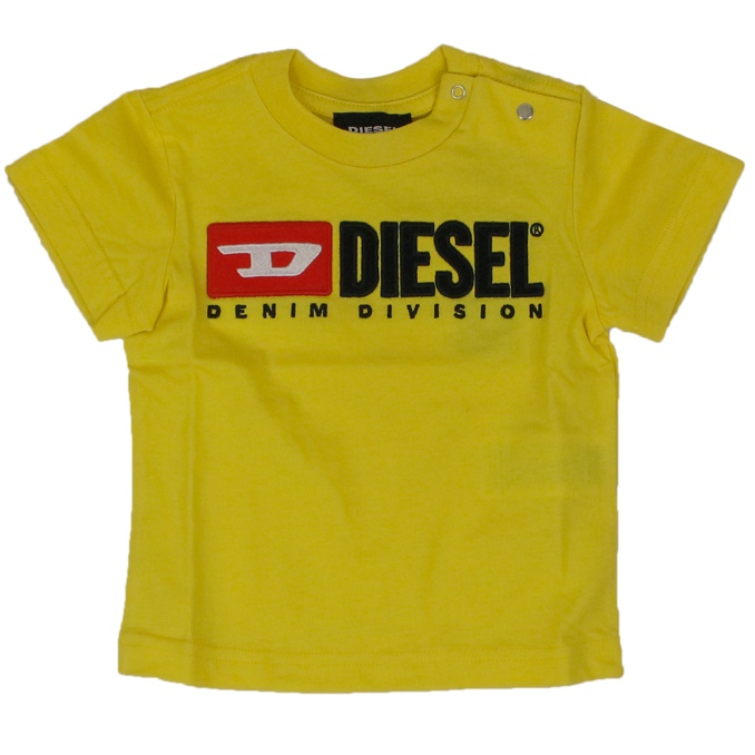 T-shirt with contrasting logo Yellow DIESEL