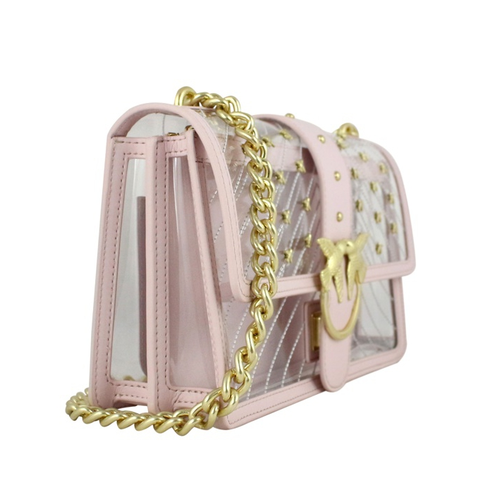 Love Plastic chain shoulder bag Rose Pinko