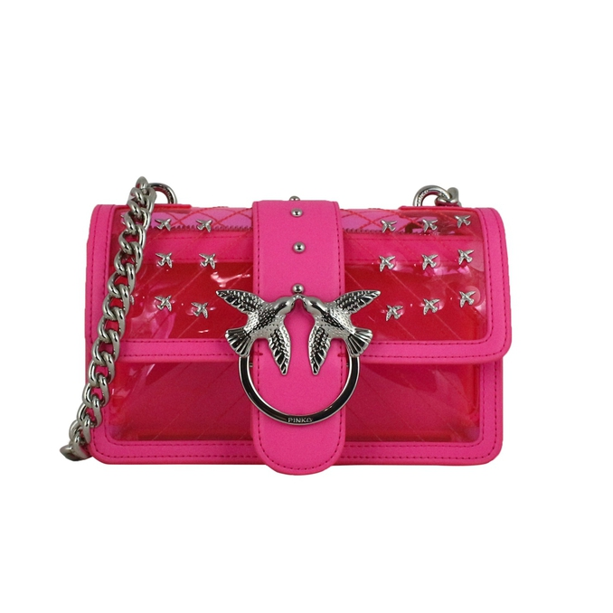 Mini Love Palstic shoulder bag Fluo pink Pinko