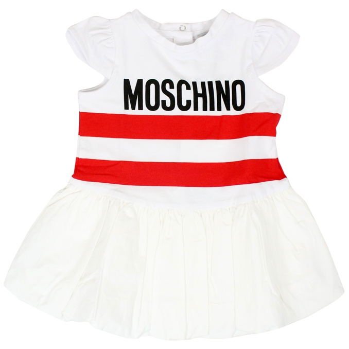 Dress with logo print White MOSCHINO