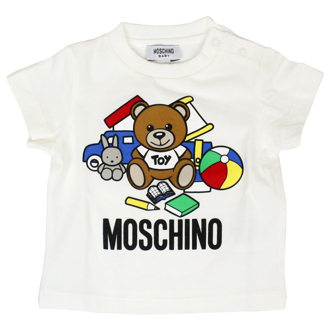 Set with bear toy print White red MOSCHINO