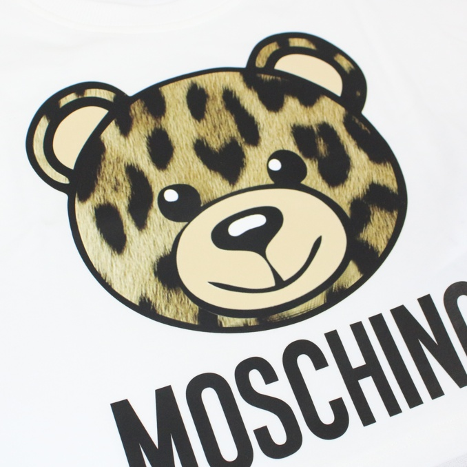 Spotted bear print t-shirt White MOSCHINO