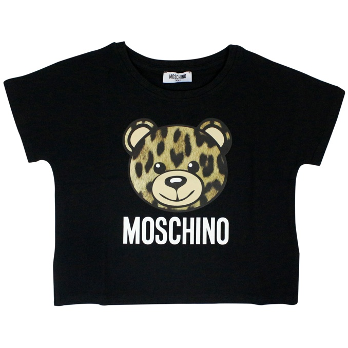 Spotted bear print t-shirt Black MOSCHINO