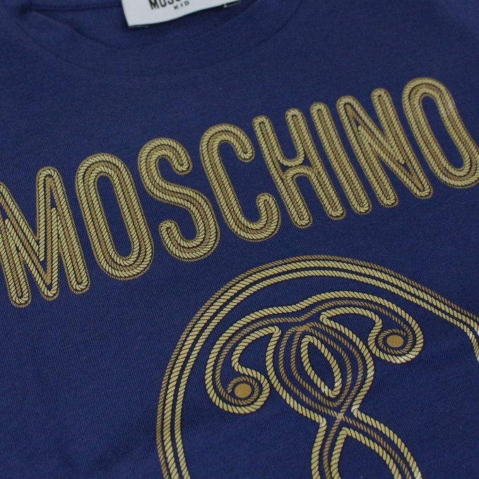 T-shirt with Milan print Blue MOSCHINO
