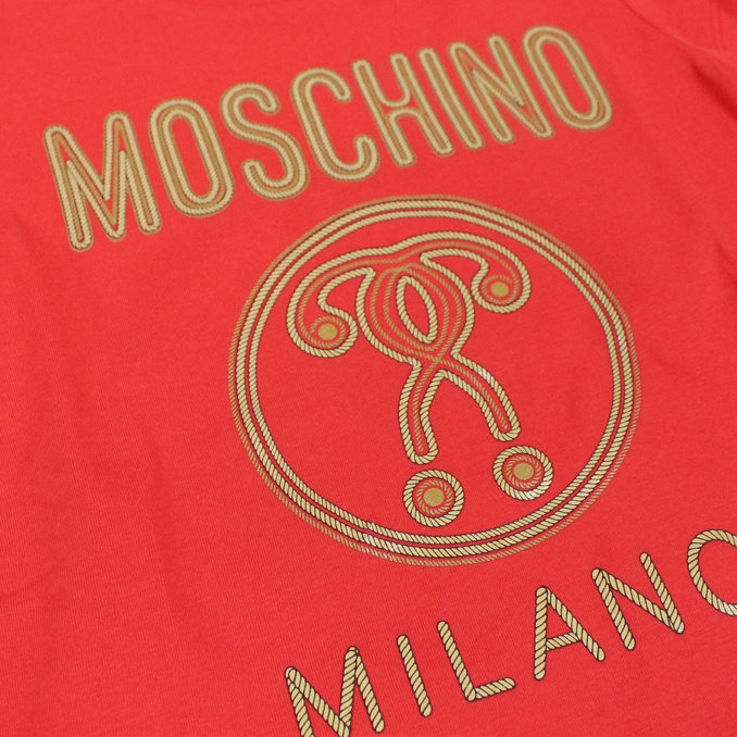 T-shirt with Milan print Red MOSCHINO
