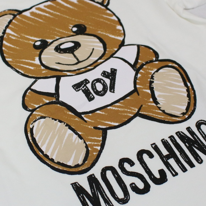 T-shirt with maxi bear Toy print White MOSCHINO