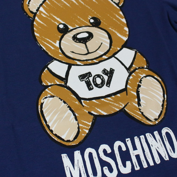 T-shirt with maxi bear Toy print Blue MOSCHINO