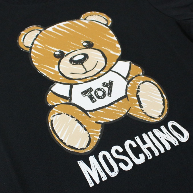 T-shirt with maxi bear Toy print Black MOSCHINO