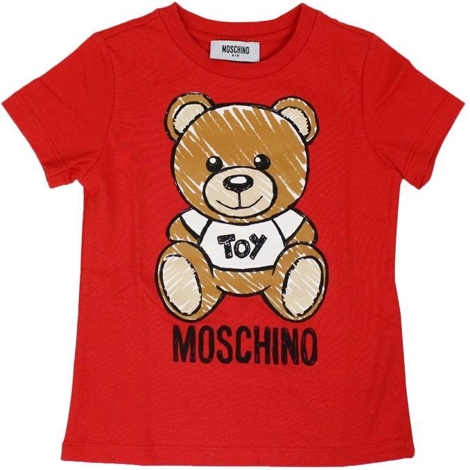 T-shirt with maxi bear Toy print Red MOSCHINO