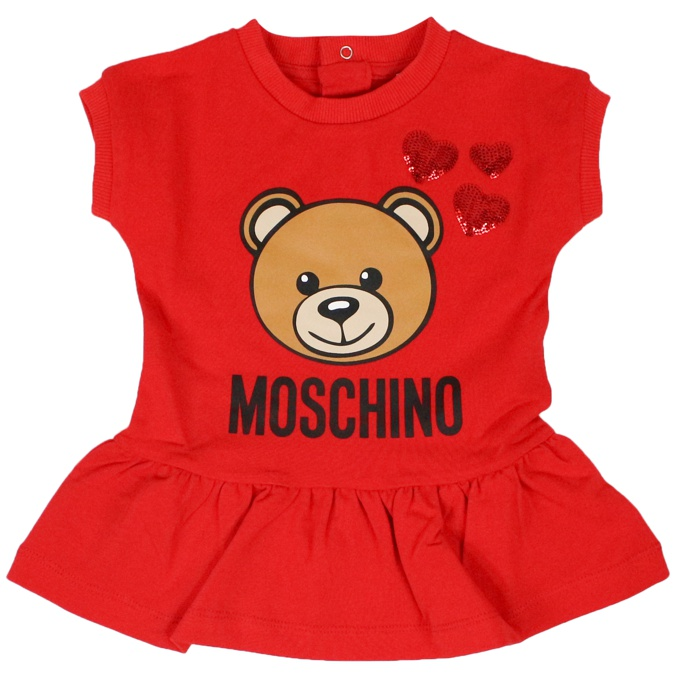 Dress with bear print Red MOSCHINO