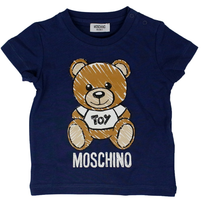 T-shirt with Bear Toy print Blue MOSCHINO