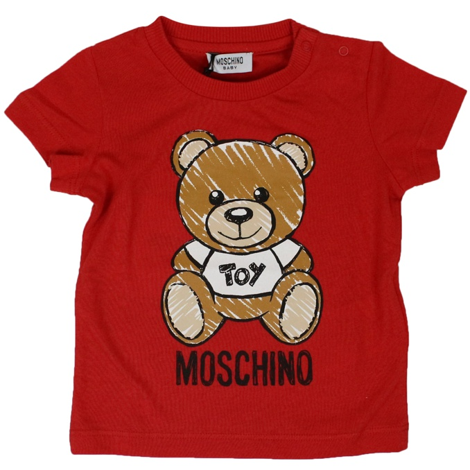 T-shirt with Bear Toy print Red MOSCHINO