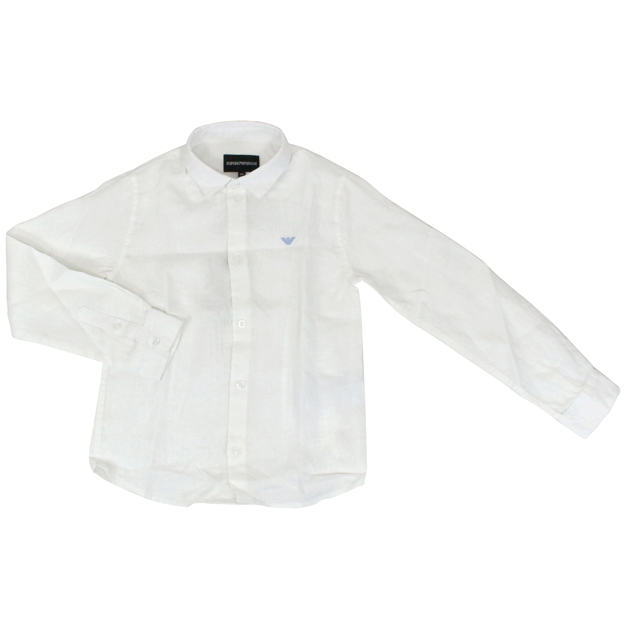 d91415ebb5 Pure linen shirt with logo embroidery