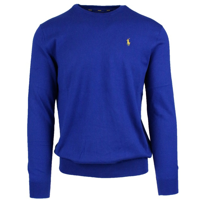 Crew-neck sweater with logo embroidery Royal Polo Ralph Lauren