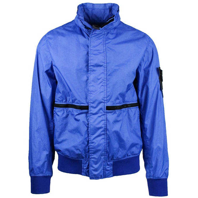 Stretch bomber with pockets Periwinkle Stone Island