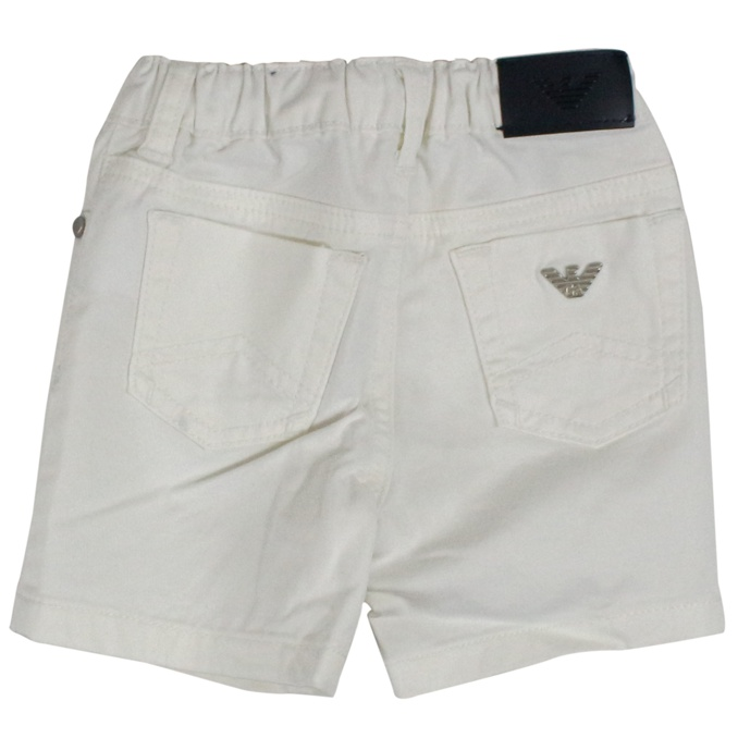 Bermuda in cotton with elastic White EMPORIO ARMANI