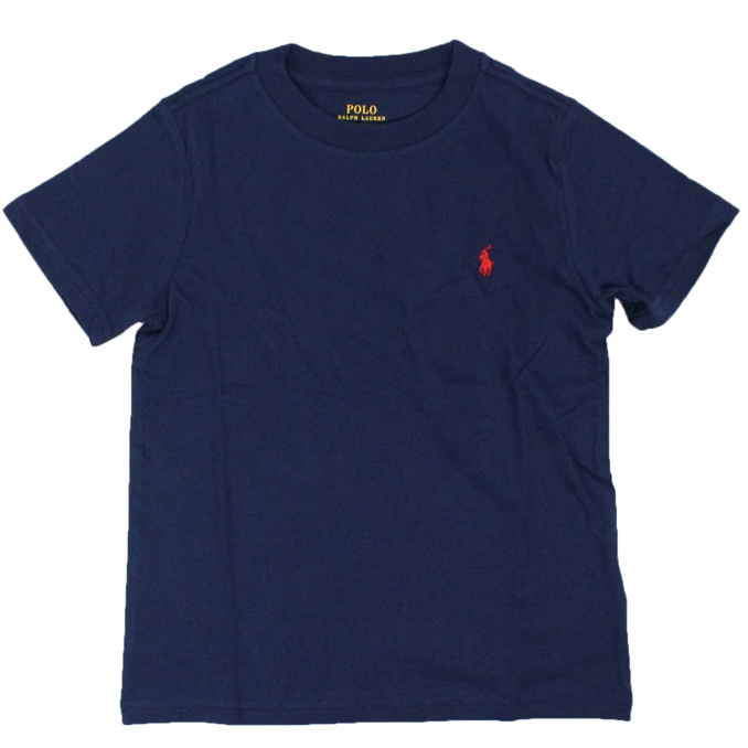 Crew-neck t-shirt with logo embroidery Blue Polo Ralph Lauren