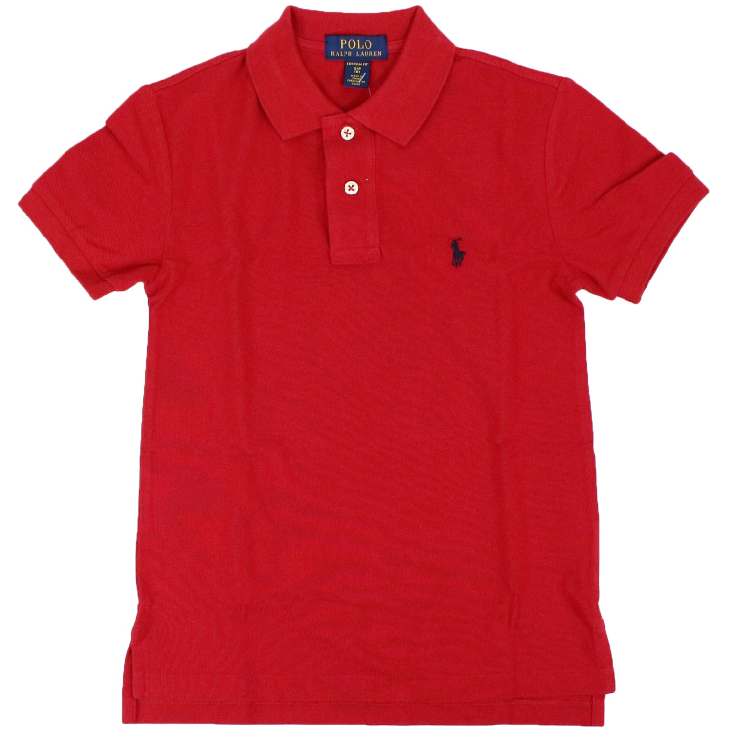 e4e5c875 2 button cotton polo shirt
