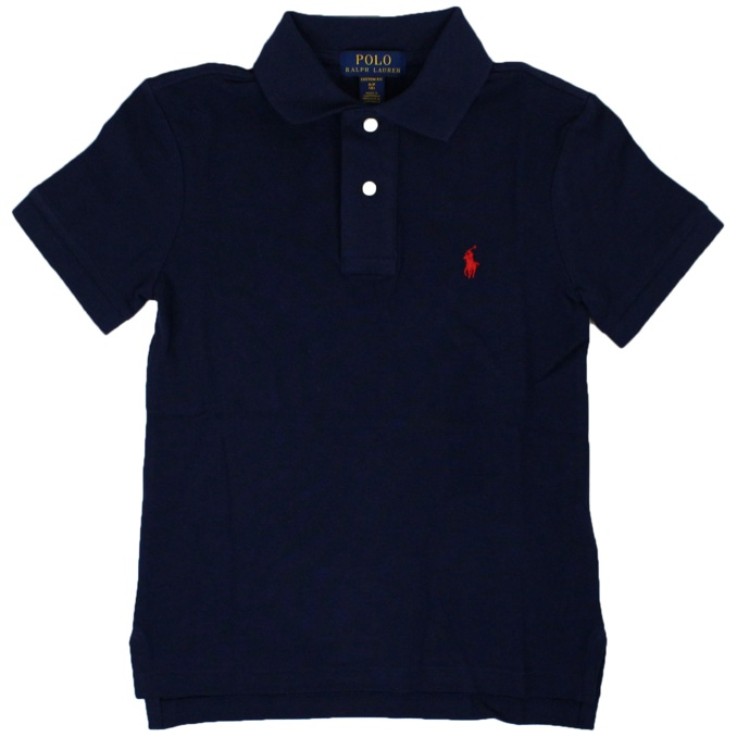 Polo 2 bottoni in cotone Blu Polo Ralph Lauren
