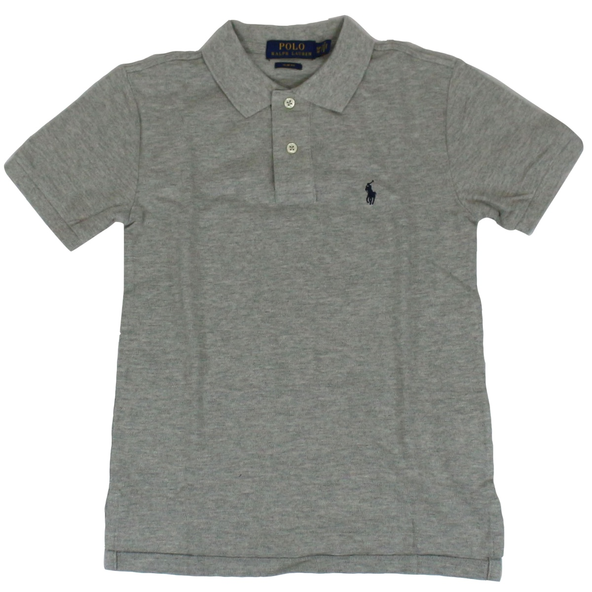 2 button cotton polo shirt Grey Polo Ralph Lauren