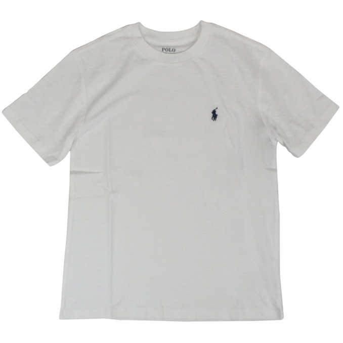 T-shirt with contrasting logo embroidery White Polo Ralph Lauren