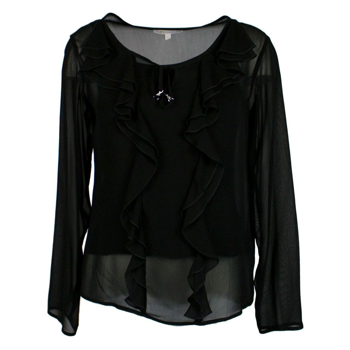 wide cut shirt with ruffles Black Patrizia Pepe