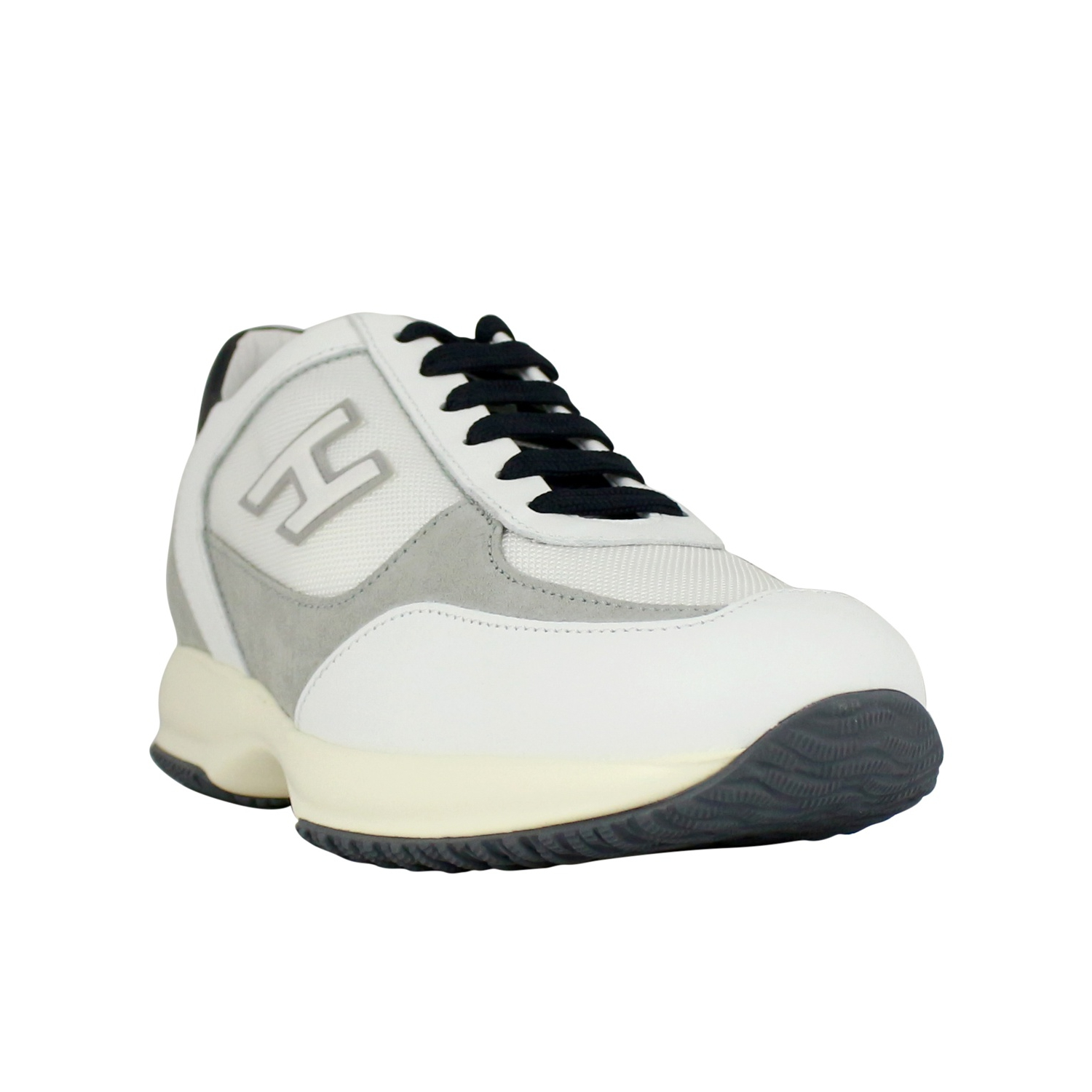 c06cc3eb2458 ... Sneakers new Interactive H Flock White   gray Hogan ...