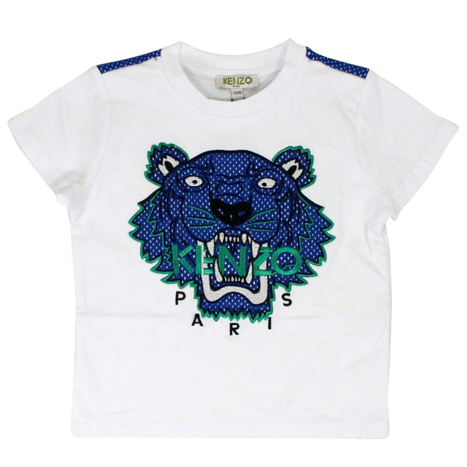 T-shirt con stampa Tiger a pois Bianco KENZO