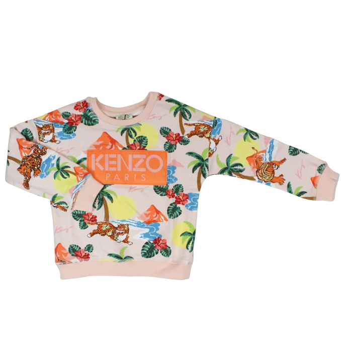 Fancy fantasy tiger sweater Antique pink KENZO