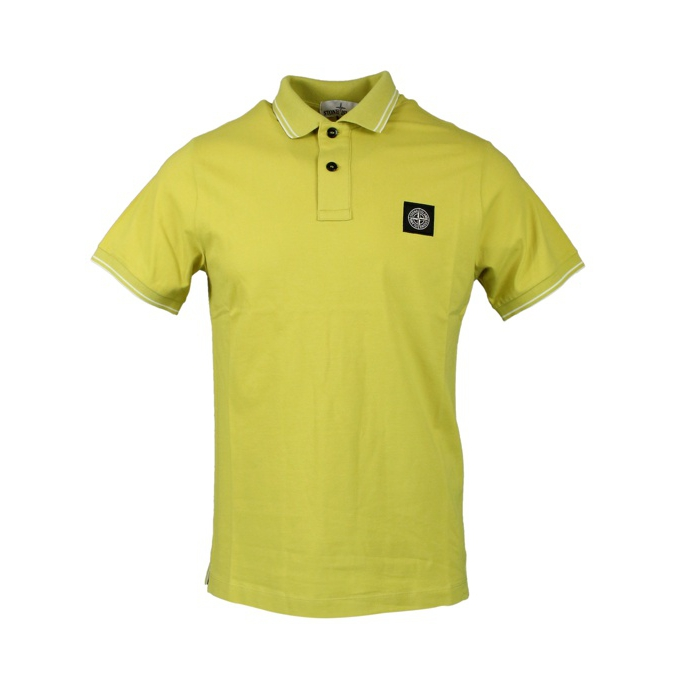 Elasticized polo with perfil and logo Wheat Stone Island