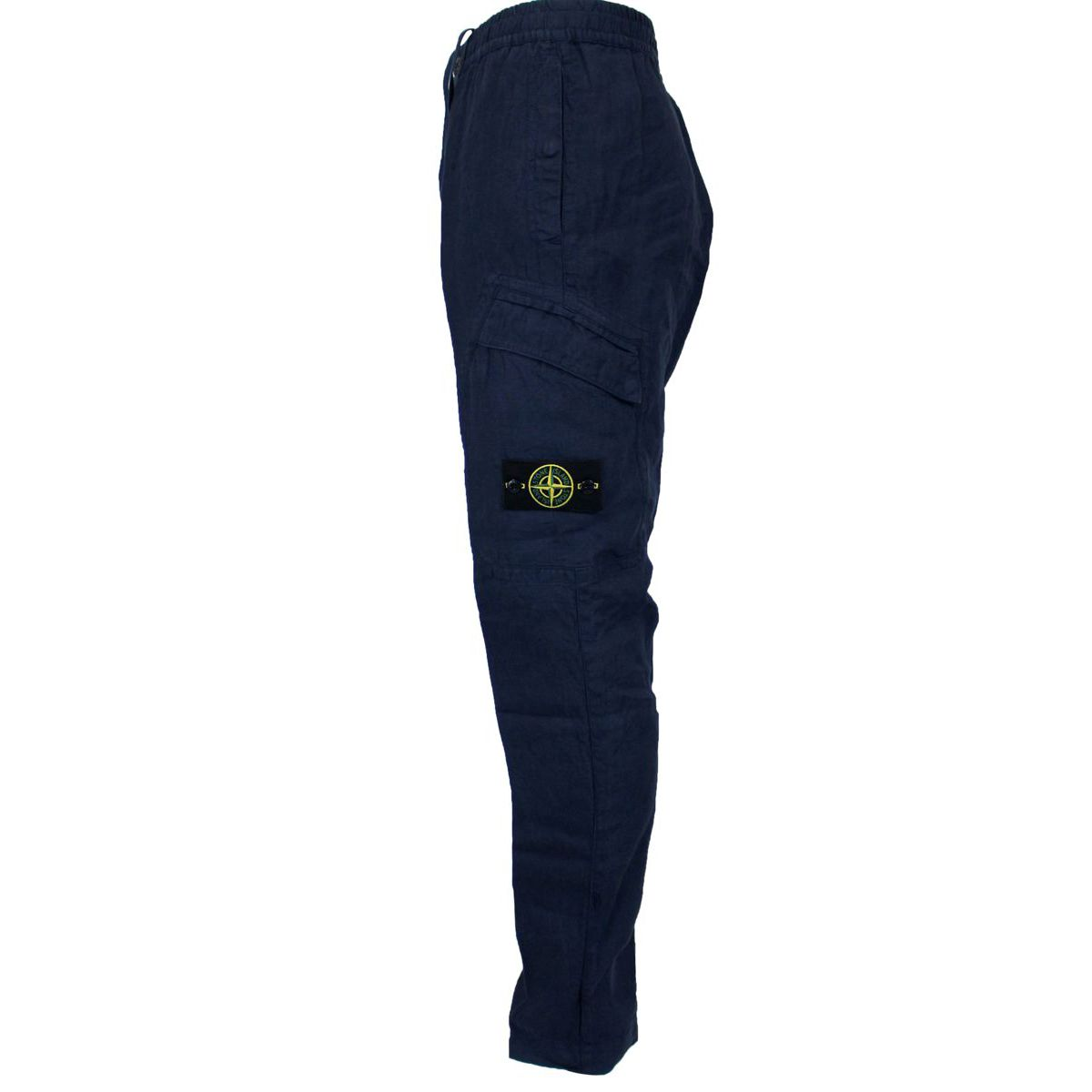 Soft linen trousers Blue Stone Island