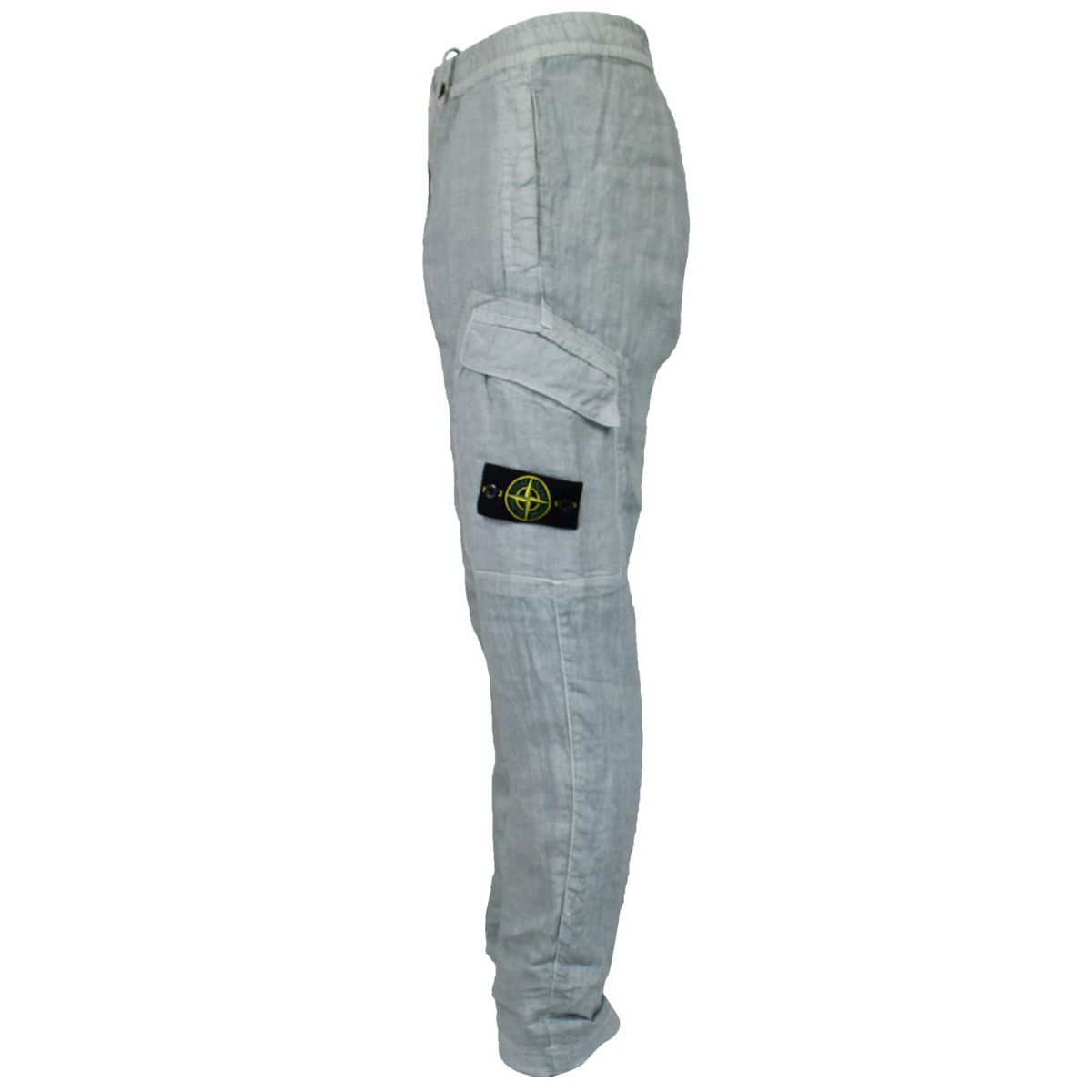 Soft linen trousers Pearl grey Stone Island