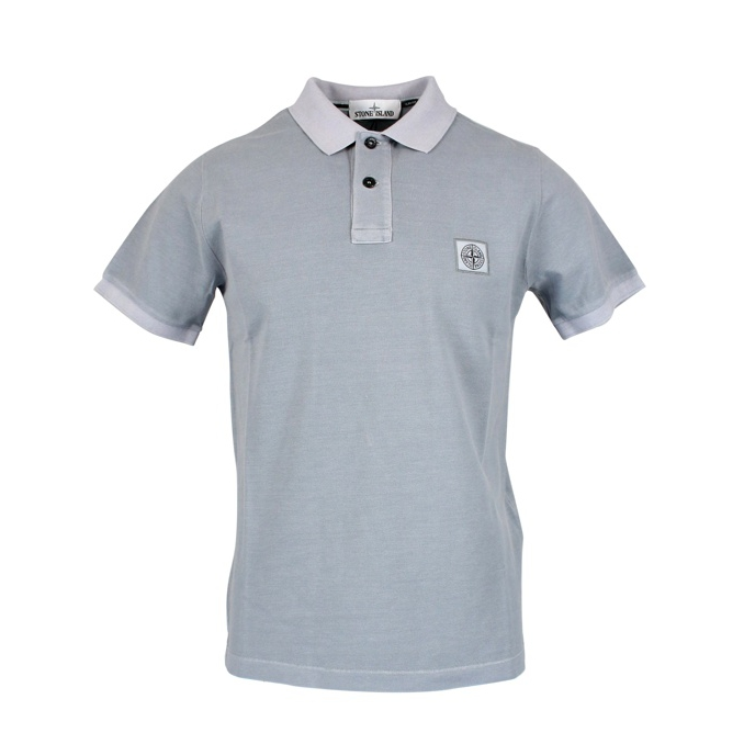 Polo 2 buttons with logo Pearl grey Stone Island