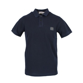 Polo 2 buttons with logo Blue Stone Island