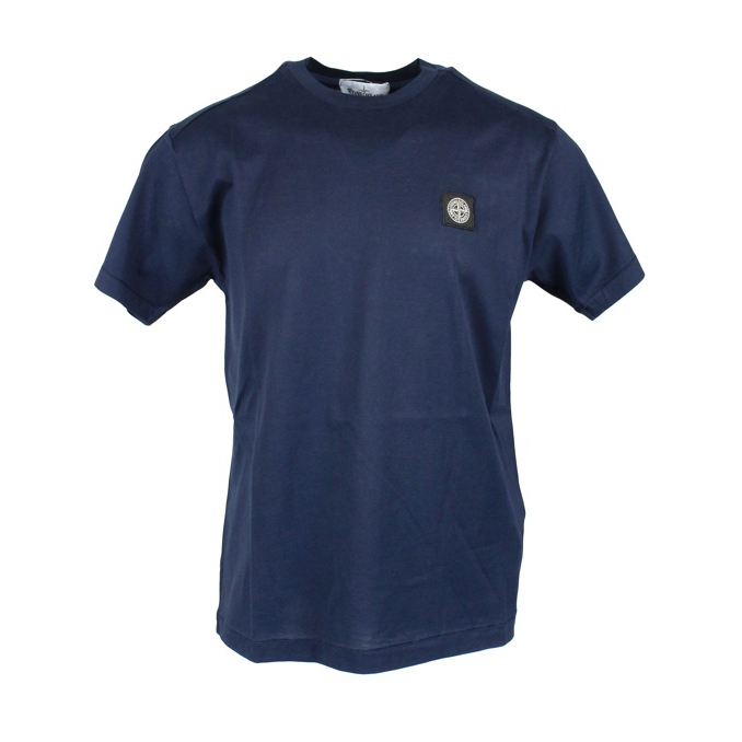 Cotton T-shirt with logo Blue Stone Island