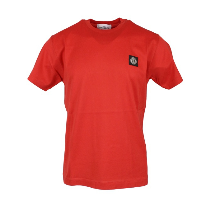 Cotton T-shirt with logo Coral Stone Island