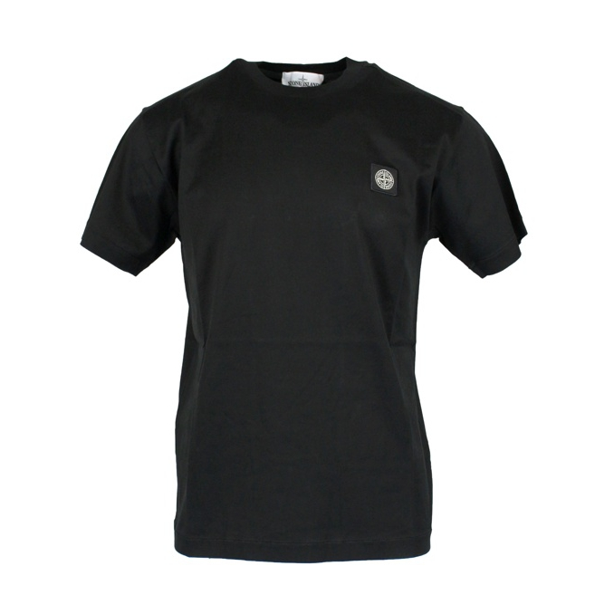 Cotton T-shirt with logo Black Stone Island