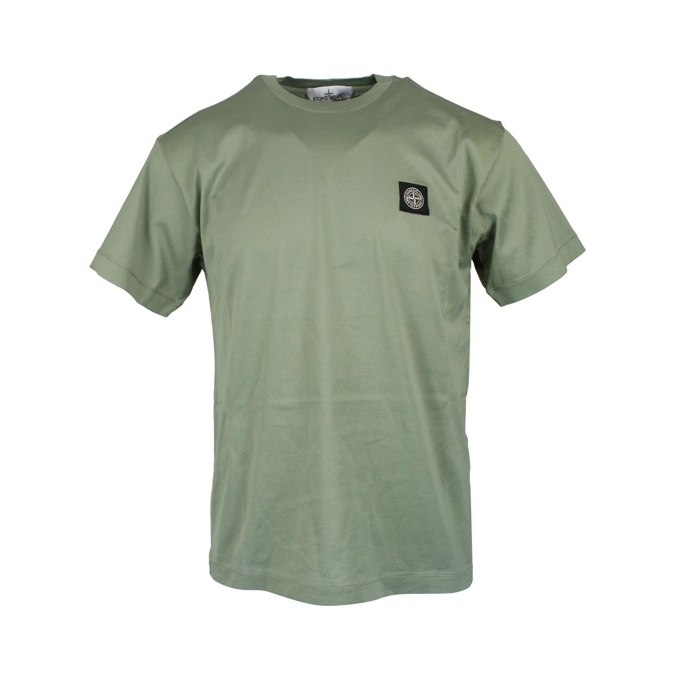 Cotton T-shirt with logo Sage Stone Island