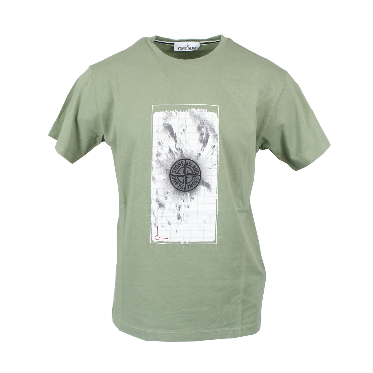 T-shirt with central logo print Sage Stone Island