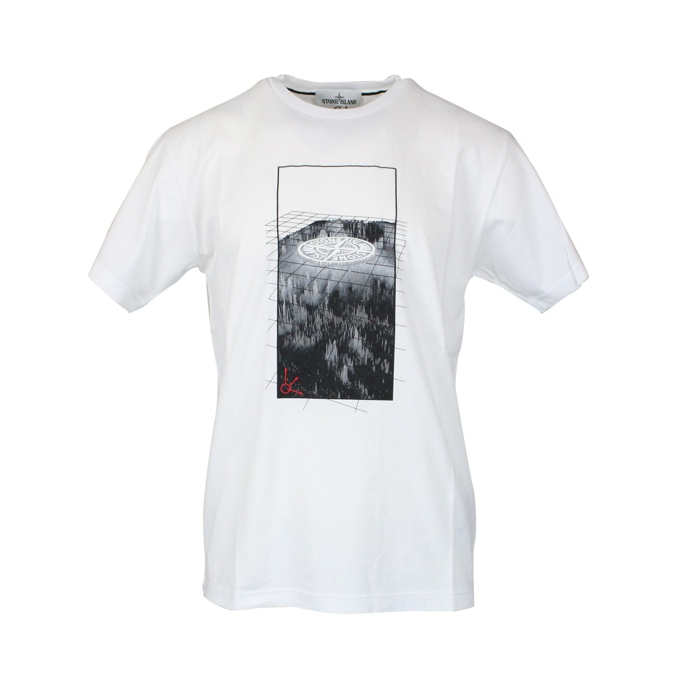 T-shirt with central logo print White Stone Island