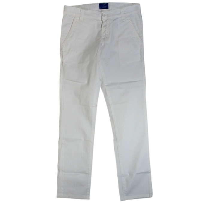 Stretch trousers with america pockets White Fay