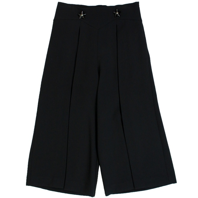 Wide trousers with metal inserts Black Elisabetta Franchi