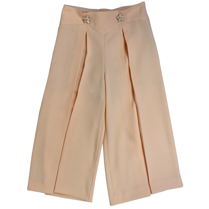 Wide trousers with metal inserts Rosa / powder Elisabetta Franchi