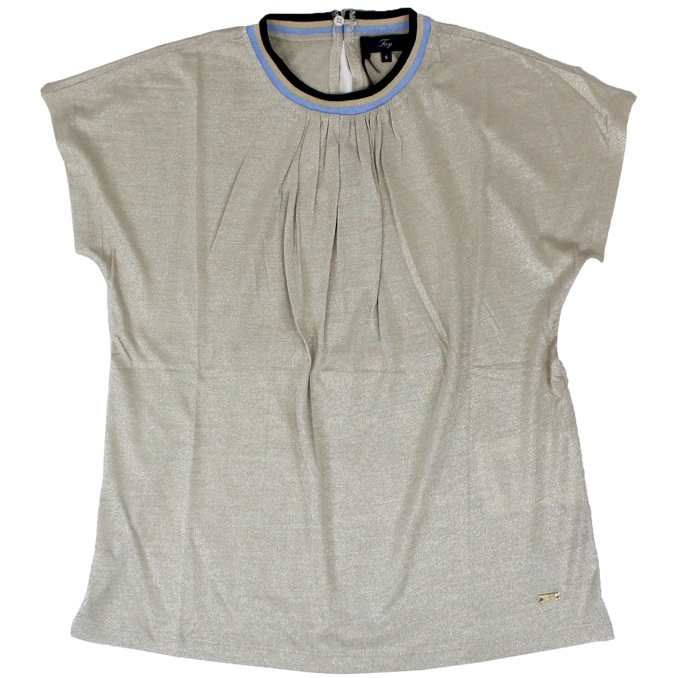 Lurex t-shirt with perfilo Gold Fay