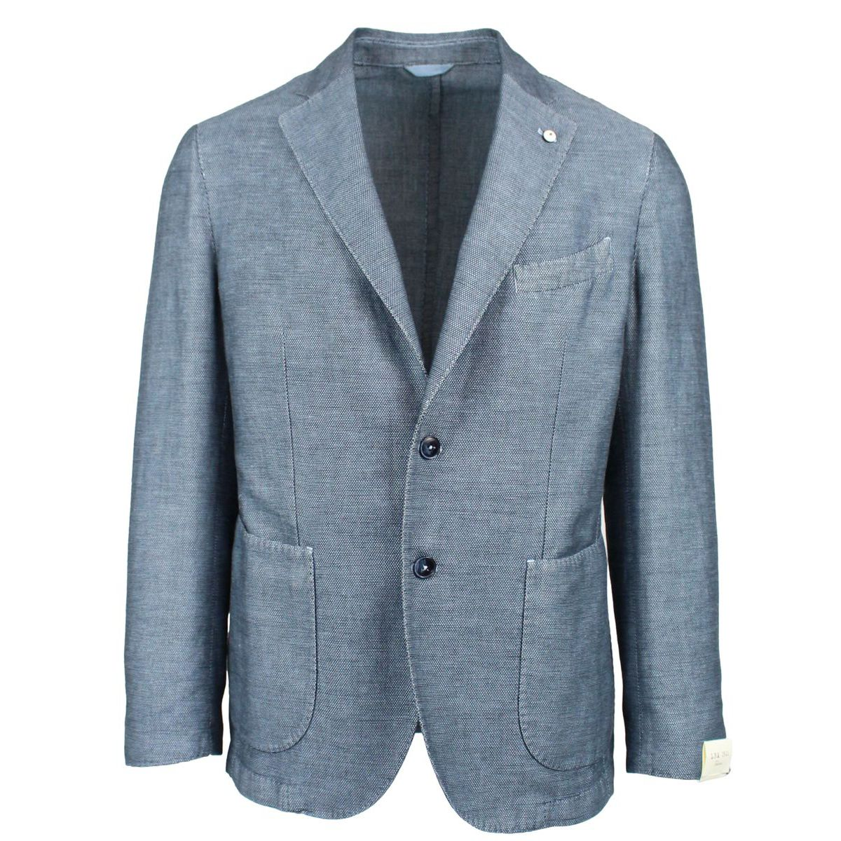 Single-breasted two-button jacket Light blue L.B.M. 1911